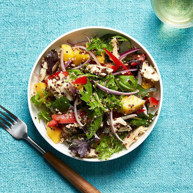 Photo of Lime-ginger quinoa, mango, and chicken salad by WW