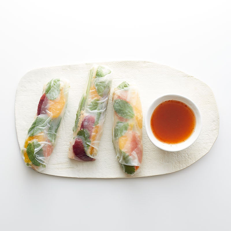Photo of Moroccan chicken summer rolls with spicy orange dipping sauce by WW