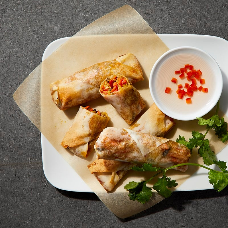 Photo of Air-Fried Vegetable Spring Rolls by Millie Peartree by WW