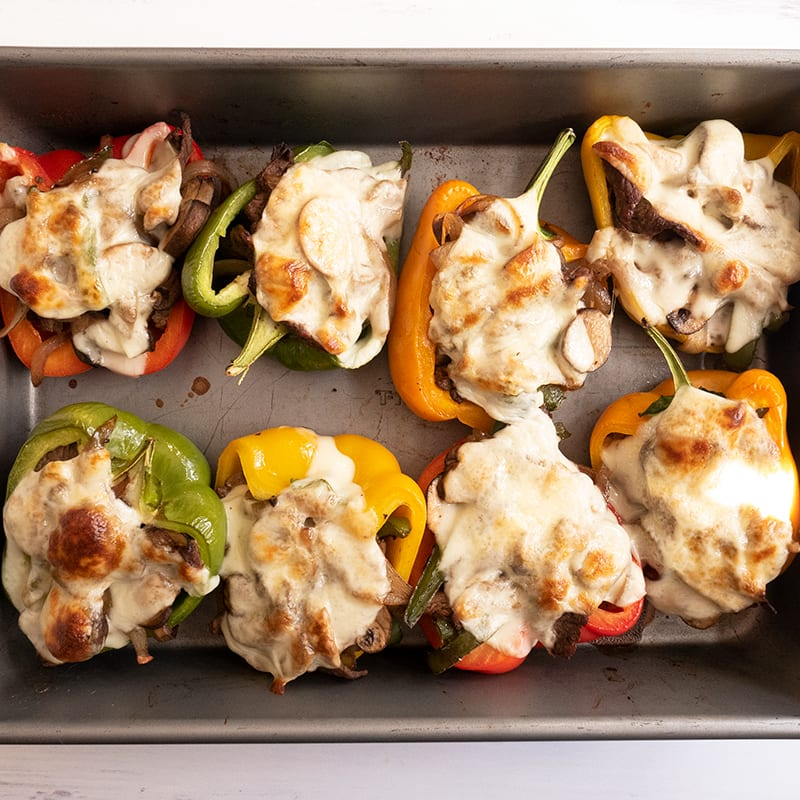 Photo of Philly cheesesteak stuffed peppers by WW