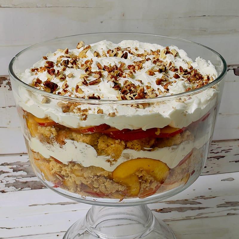 Photo of Peach and cornbread trifle by WW