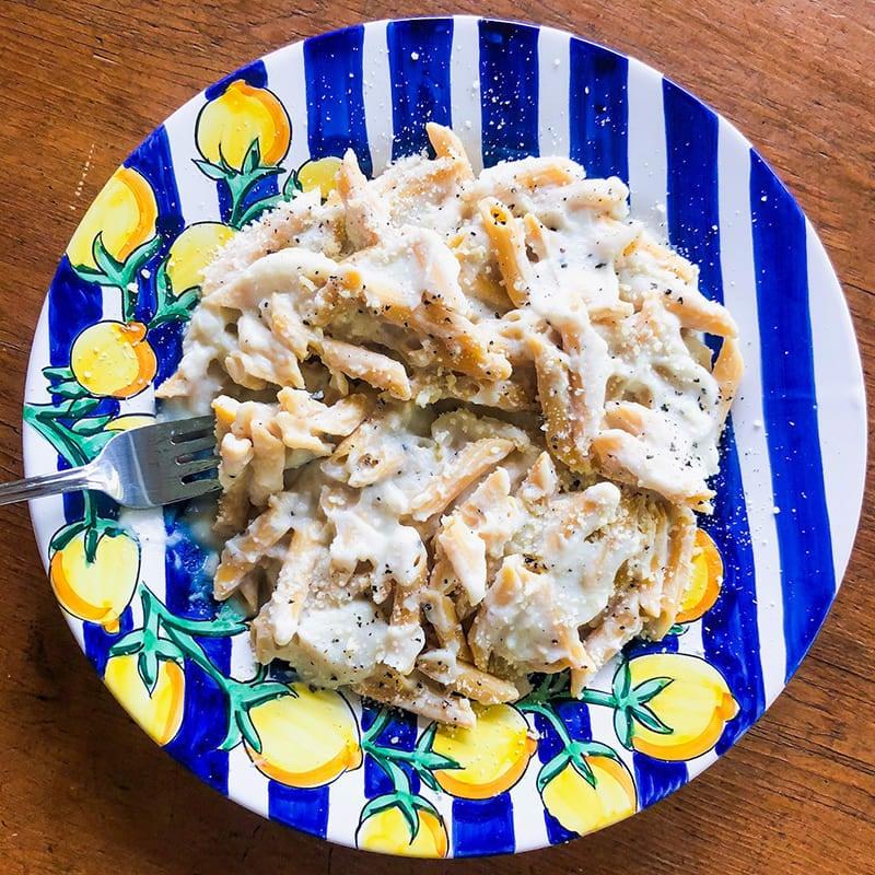Photo of Pasta with cauliflower Alfredo sauce by Katie Lee Biegel by WW