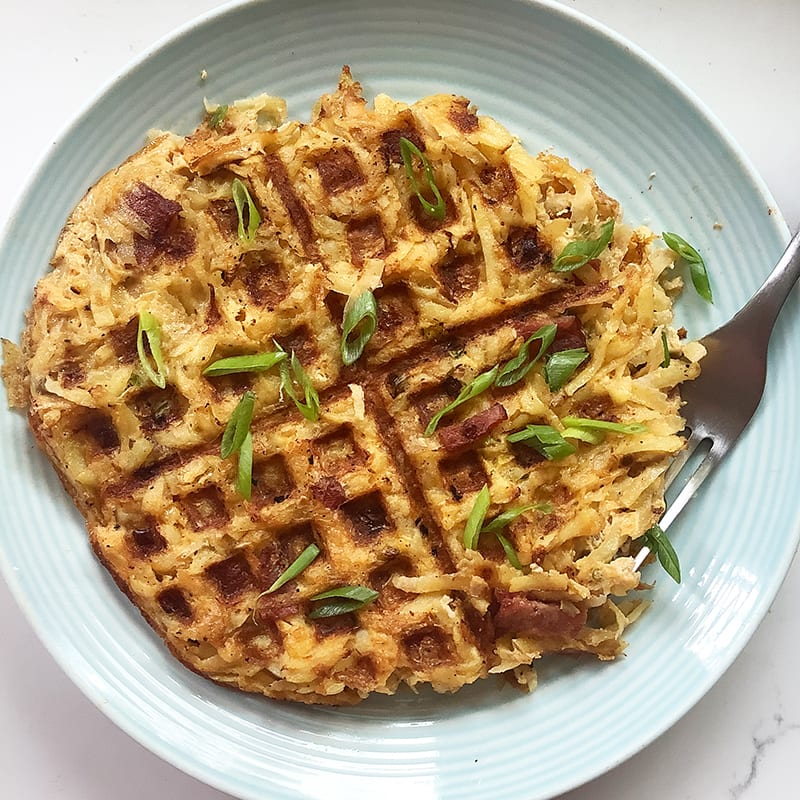 Photo of Loaded hash brown-waffles by Chef Millie Peartree by WW