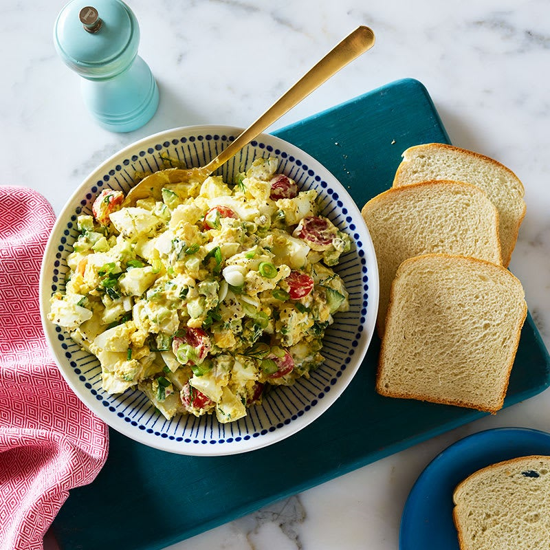 Photo of Egg salad with cucumber, tomato and capers by WW