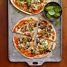 Photo of Eggplant parm tortilla pizza by WW