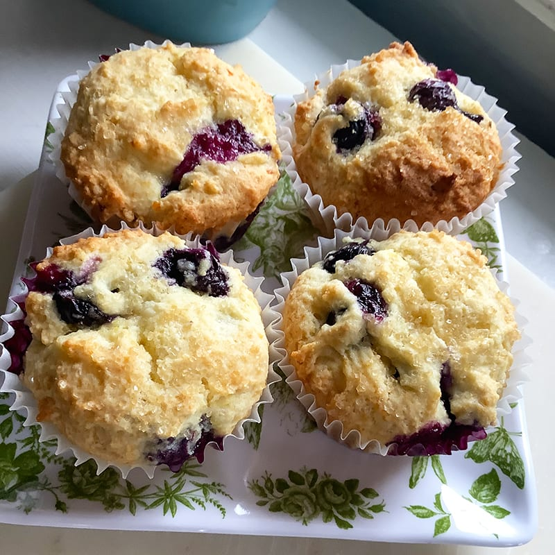 Photo of Lemon-ricotta blueberry muffins by Chef Millie Peartree by WW