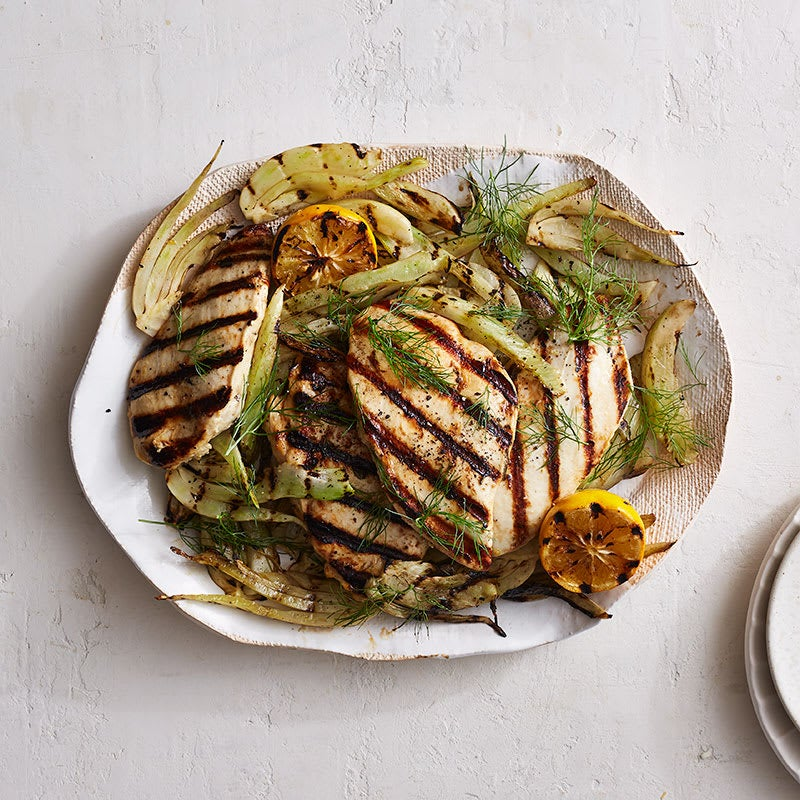 Photo of Grilled lemon-oregano chicken with shaved fennel salad by WW