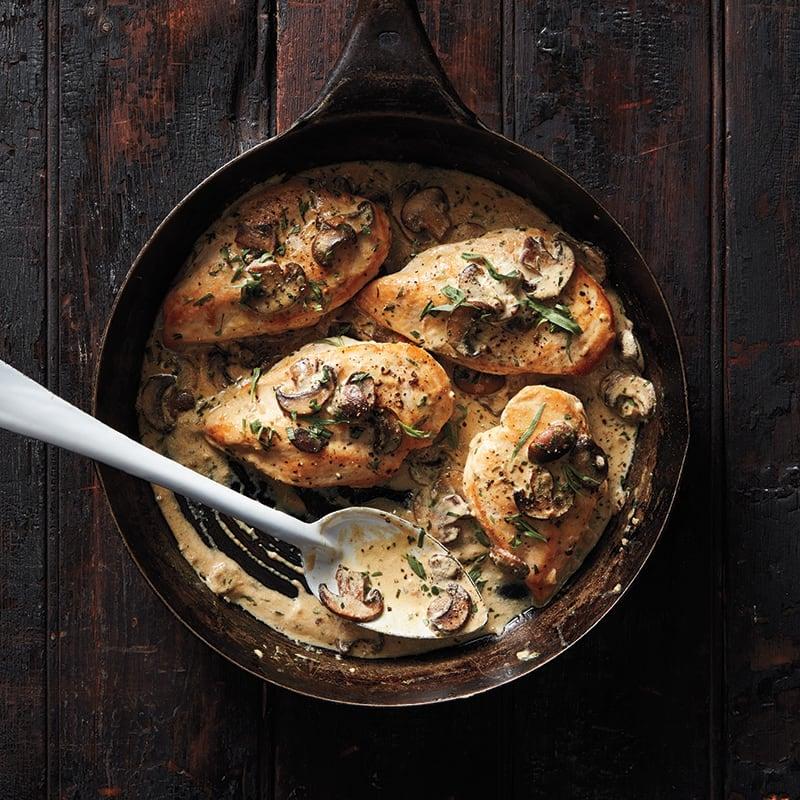 Photo of Chicken with creamy tarragon mushroom sauce by WW