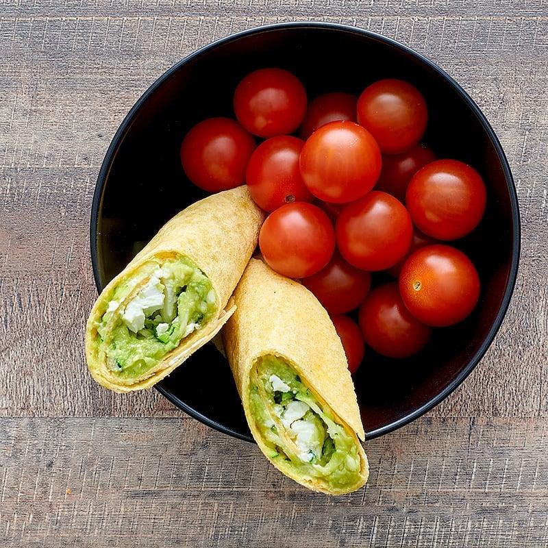 Photo of Avocado, spinach, and feta wraps by WW