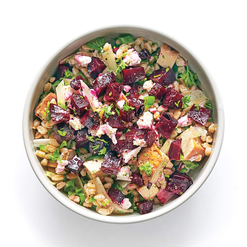 Photo of Farro and beet salad with fennel and feta by WW