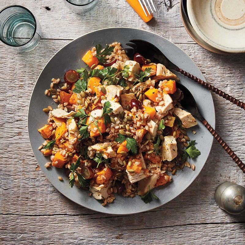 Photo of Chicken salad with farro and squash by WW