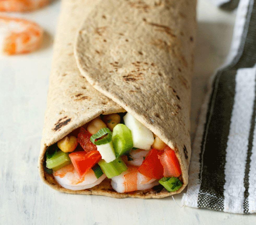Photo of Flatout crunchy chopped salad wrap with shrimp by WW