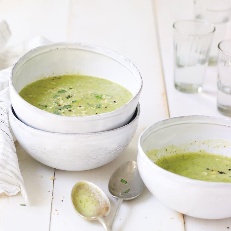 Photo of Creamy zucchini-tarragon soup by Daphne Oz by WW