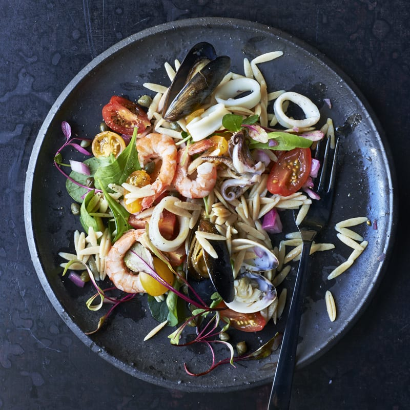 Photo of Seafood salad with tomatoes and orzo by WW