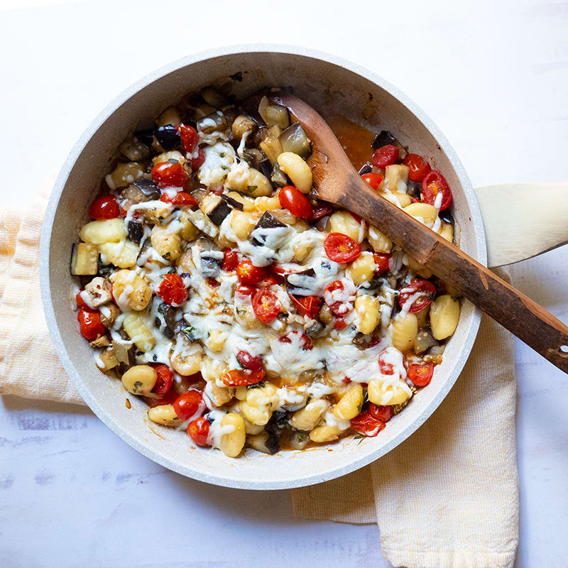 Photo of One-Skillet Gnocchi with Eggplant and Tomatoes by WW