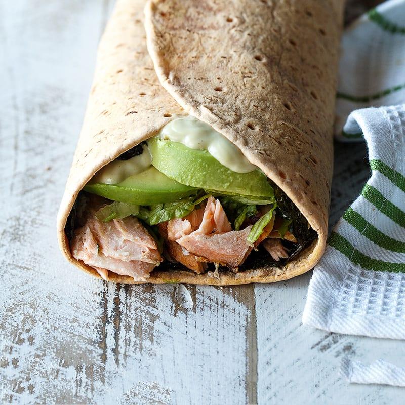 Photo of Salmon sandwich wrap with nori by WW