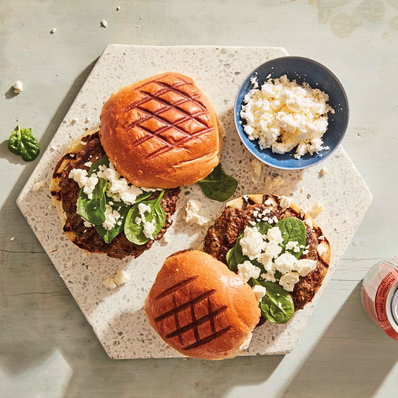 Photo of Greek-style cheeseburgers by WW