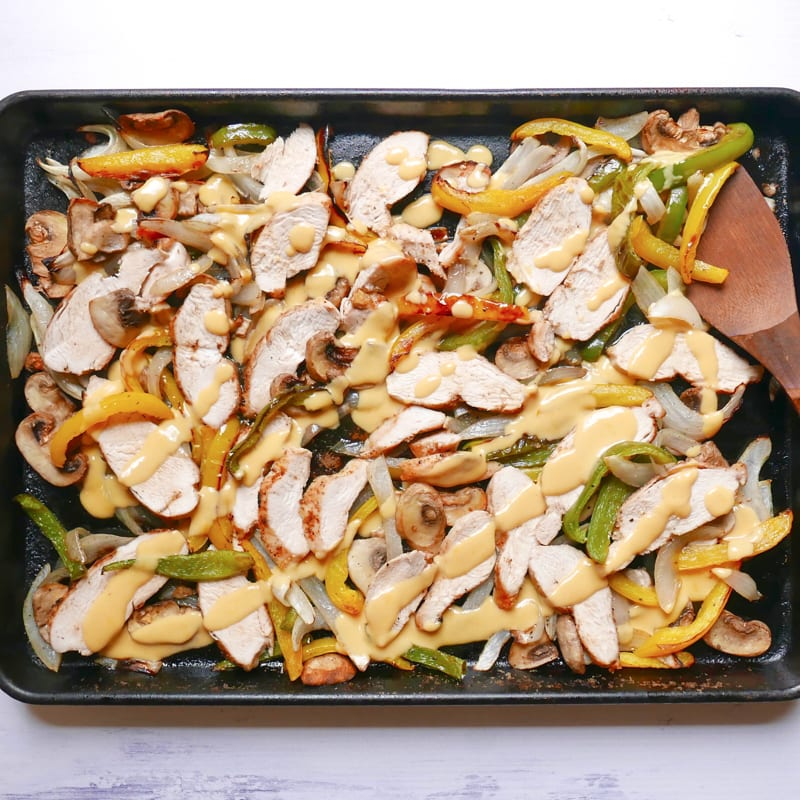 Photo of Sheet pan chicken philly by WW