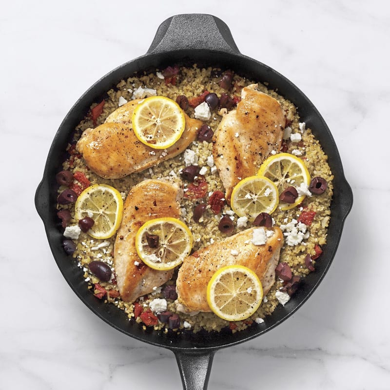 Photo of One-pot greek chicken freekeh skillet by WW