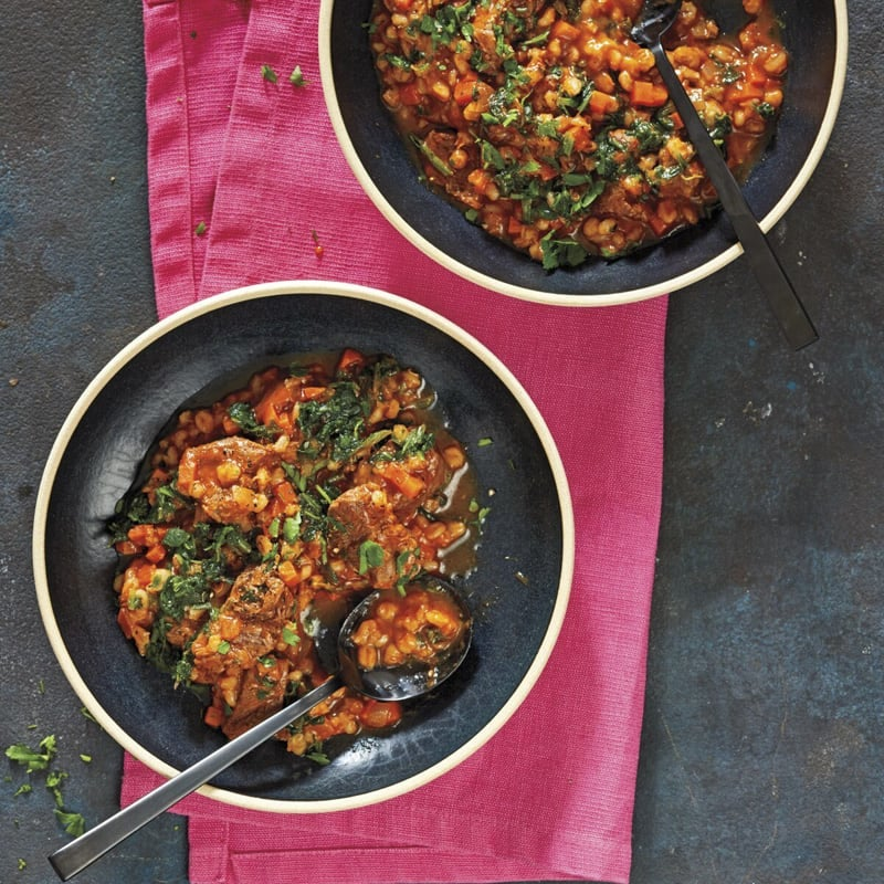Photo of Hearty beef-barley stew by WW