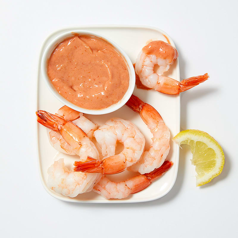 Photo of Shrimp cocktail with spicy dipping sauce by WW