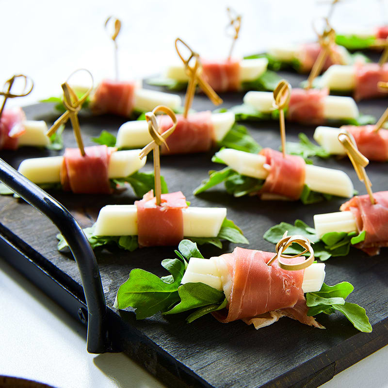Photo of Smoked String  Cheese and Prosciutto Bites by WW