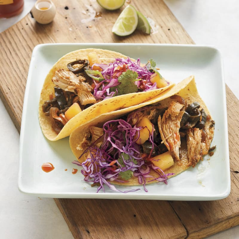 Photo of Chicken tacos with pineapple slaw by WW