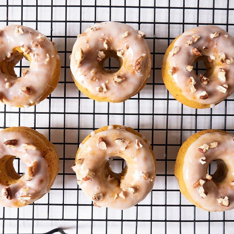 Photo of Cardamom sweet potato doughnuts with yogurt glaze by WW