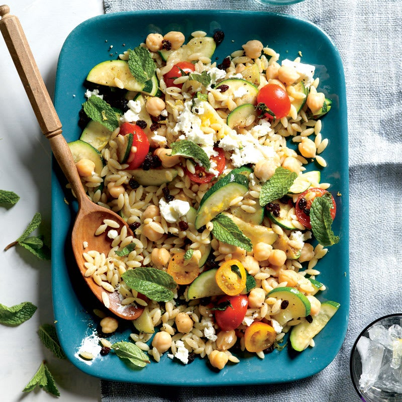Photo of Chickpea and Orzo Pilaf with Zucchini and Mint by WW