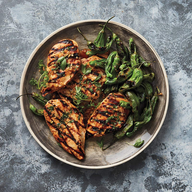 Photo of Grilled chicken with shishito peppers by WW