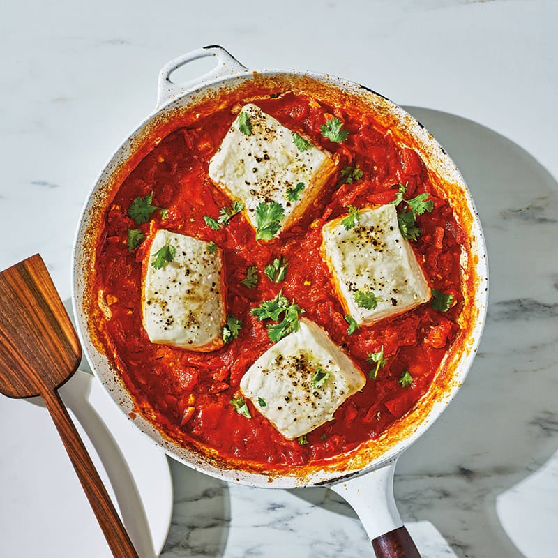 Photo of Halibut in chraime sauce (spicy Tunisian fish stew) by WW
