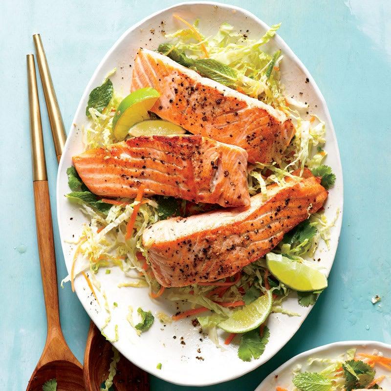Photo of Salmon with Thai slaw by WW