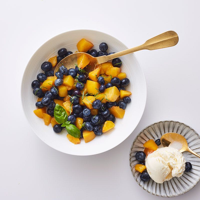 Photo of Fresh blueberry-peach salsa by WW