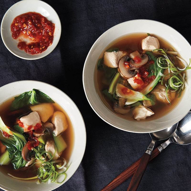 Photo of Asian chicken-mushroom soup by WW