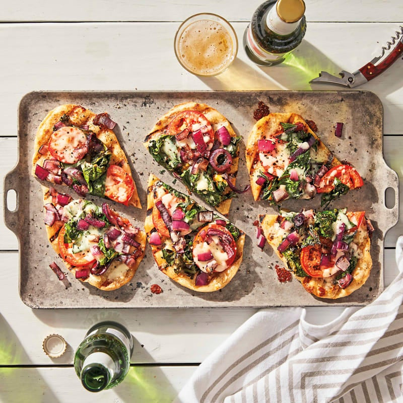 Photo of Grilled Swiss chard and tomato pizzas by WW