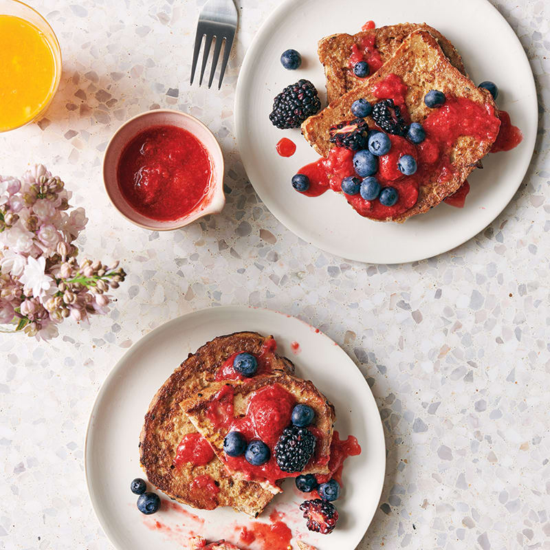 Photo of French toast with strawberry sauce by WW
