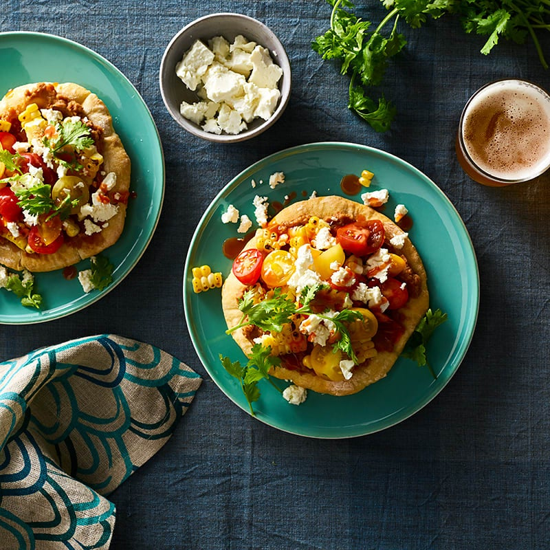 Photo of Two-Ingredient-Dough Soft Mexican Tostadas by WW