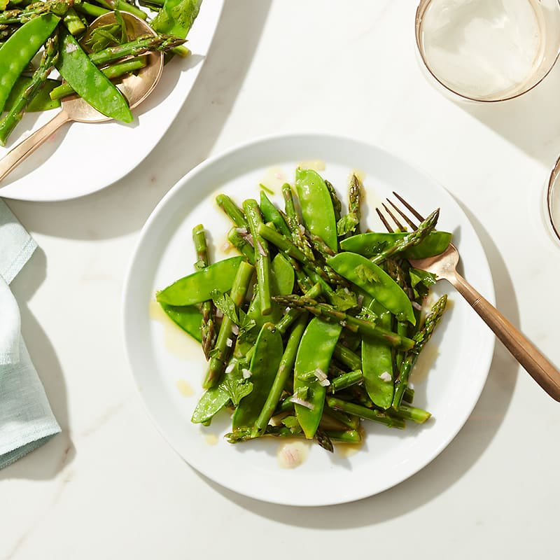 Photo of Cat Cora's asparagus and snow pea salad by WW