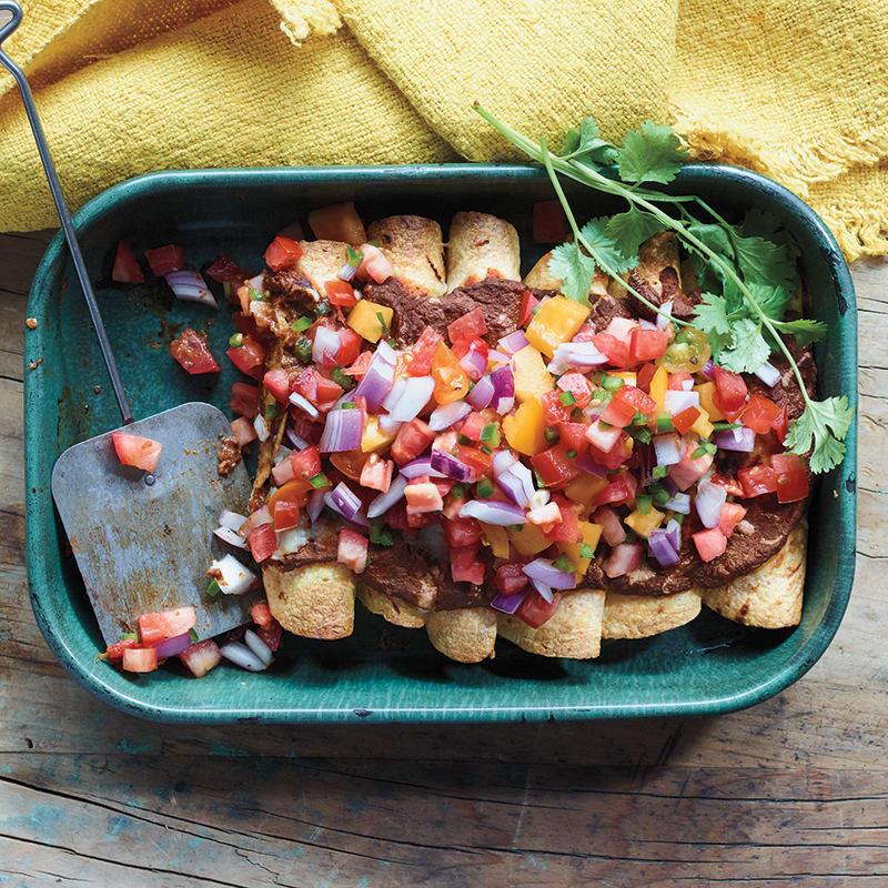 Photo of Bean, cheese, and poblano enchiladas by WW
