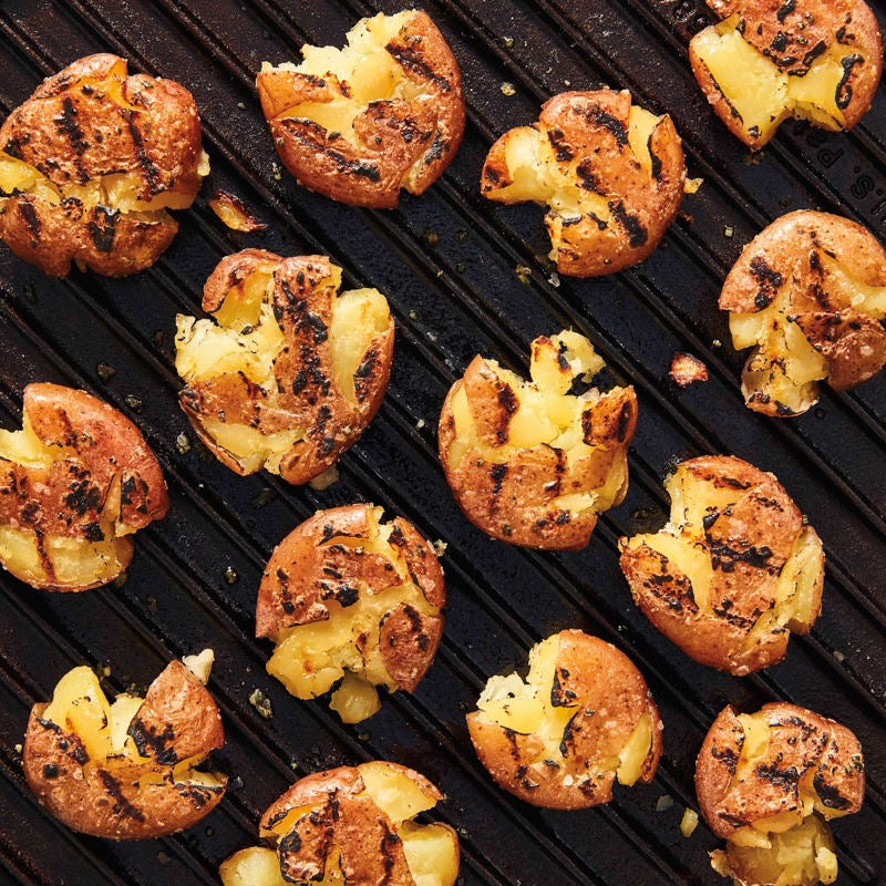 Photo of Grilled smashed potatoes by WW