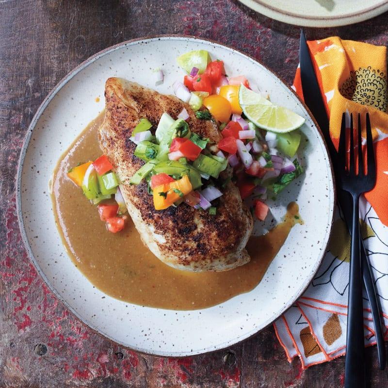 Photo of Chicken with tomatillo-cilantro salsa by WW