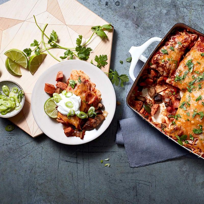 Photo of Chorizo and veggie enchiladas by WW