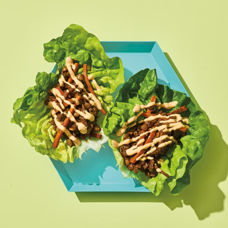 Photo of Chocolate-lentil lettuce wraps by WW