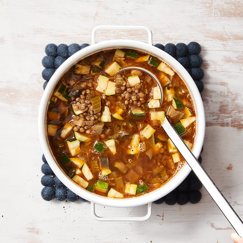 Photo of Middle Eastern vegetable & lentil soup by WW