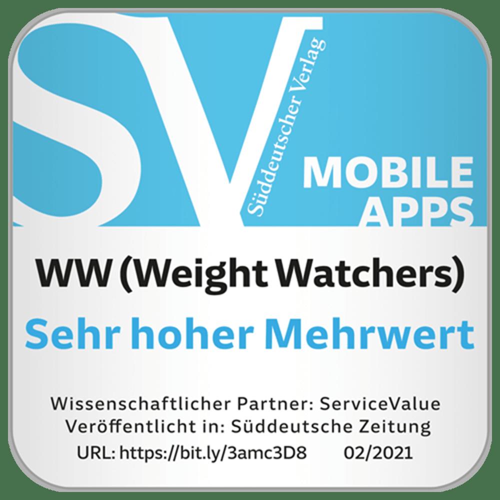 Siegel des Süddeutschen Verlags zur Auszeichnung als App mit sehr hohem Mehrwert