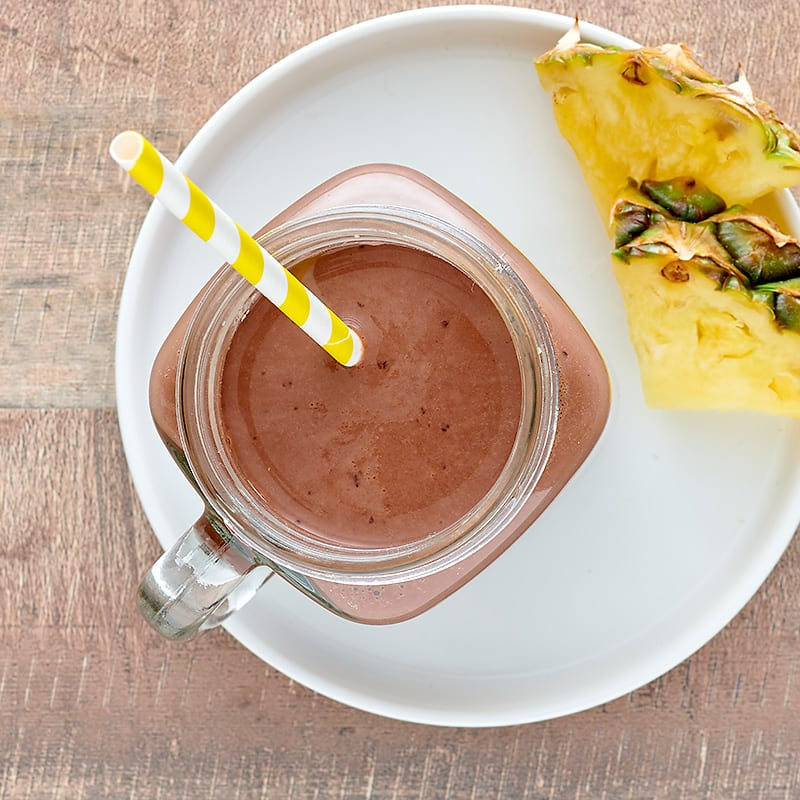 Photo of Chocolate-pineapple protein smoothie by WW