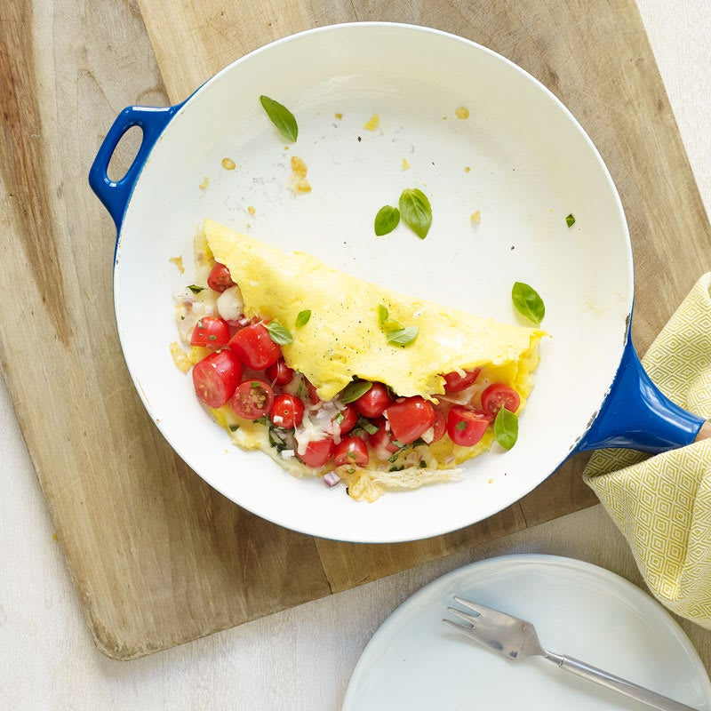 Photo of Italian omelet with tomato and mozzarella by WW