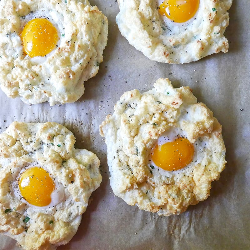 Photo of Cheese and herb cloud eggs by WW