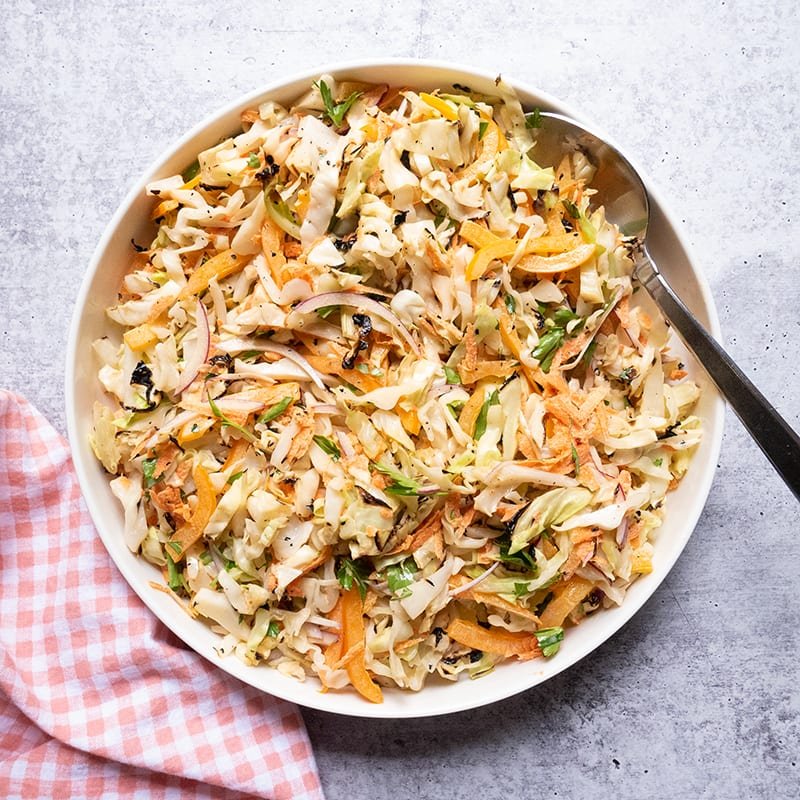 Photo of Grilled cabbage slaw by WW