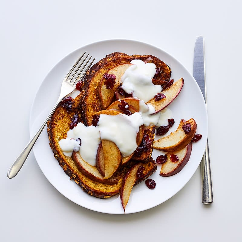 Photo of French toast with sauteed pears & cranberries by WW